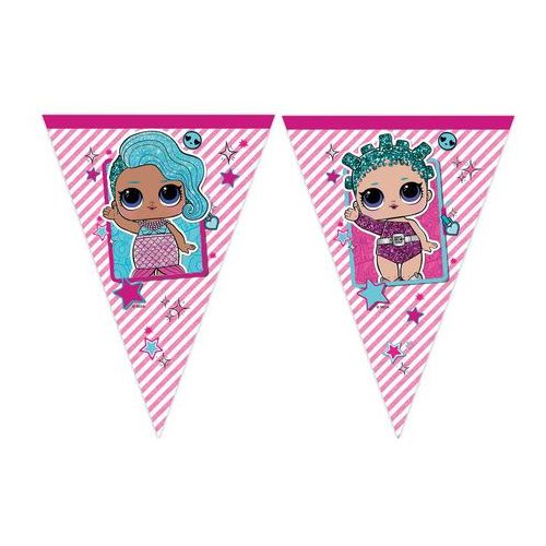 Baner flagi lol glitterati - cm - 1 szt. marki Procos disney