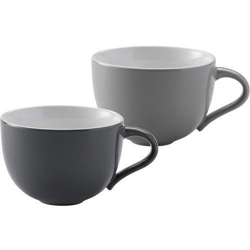 Duże filiżanki do kawy emma, 2 szt, szare - marki Stelton