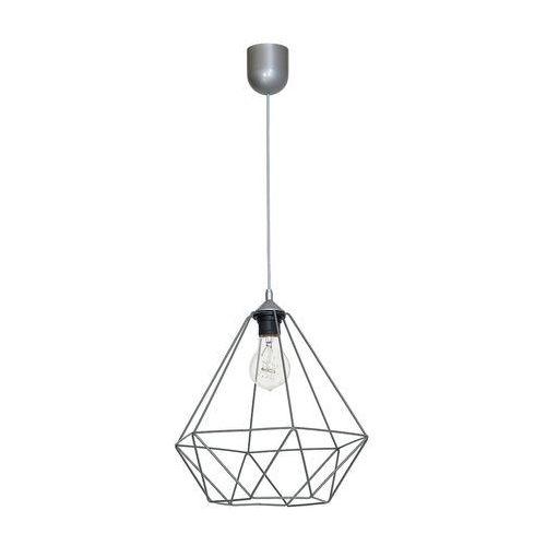 Lampa wisząca Luminex Basket 7216 lampa sufitowa diament 1x60W E27 szary, 7216