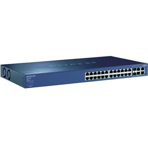 Switch Netgear ProSafe FS728TP, 100 Mb/s, 24 porty RJ45 (24 PoE), montaż rack, JGS524