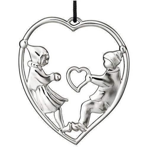 Ozdoba świąteczna Rosendahl Karen Blixen serce z elfami srebrne