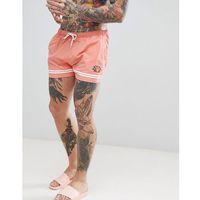 ellesse Printed Stripe Swim Shorts In Pink - Pink, kolor różowy