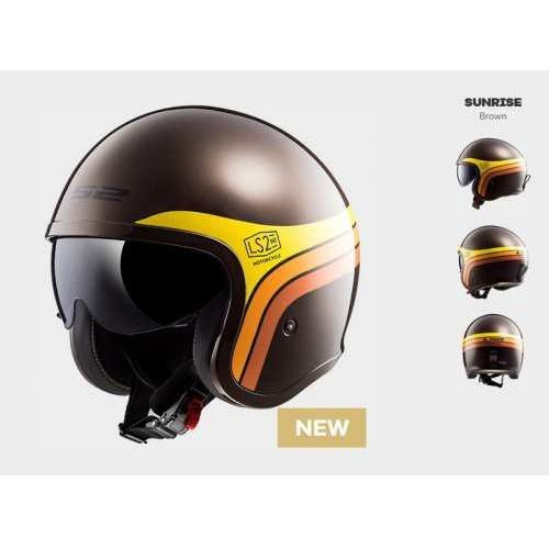 Ls2 Kask motocyklowy of599 spitfire sunrise brown orange yellow
