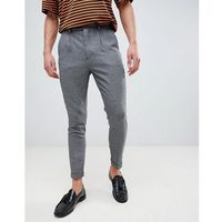 New look tapered trouser in grey - grey