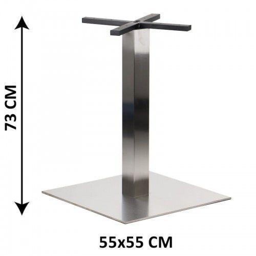 Podstawa stolika SH-3002-7/S, 55x55 cm, stal nierdzewna szczotkowana (stelaż stolika)