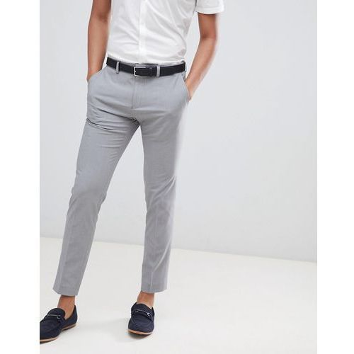Burton menswear skinny fit trouser in grey - grey