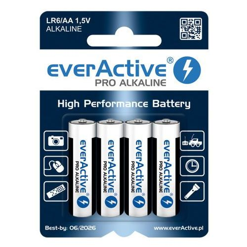 Everactive 4 x baterie alkaliczne pro lr6 / aa (blister) (5902020523635)