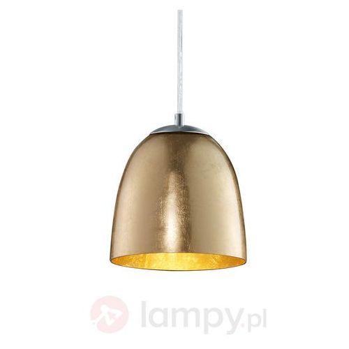 Mała lampa wisząca Ontario ze szkła, kolor Złoty