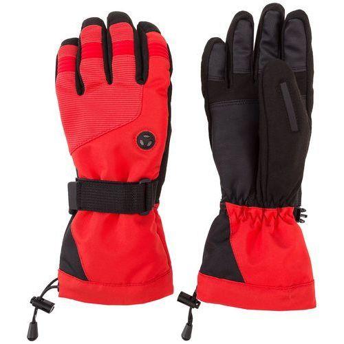 Rękawice narciarskie damskie Serbia Pyeongchang 2018 RED700 - czerwony wiśniowy, (S4Z17-RED700) RED700 - czerwony wiśniowy
