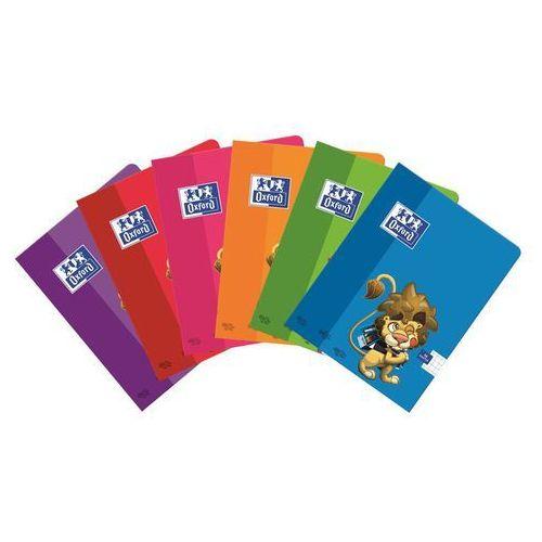 Zeszyt A5 Oxford w trzy linie 16 kartek Lew mix (5904017276432)