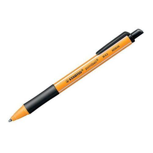 długopis automatyczny pointball, czarny marki Stabilo
