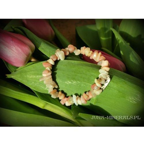 Opal różowy - bransoletka
