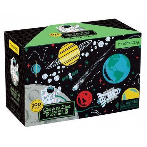 Neuveden Glow in dark puzzle: outer space/zářící puzzle: vesmír (100 dílků) (9780735345737)
