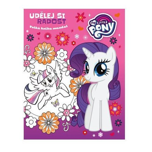 Linda perina My little pony - udělej si radost - velká kniha mandal (8594063858927)