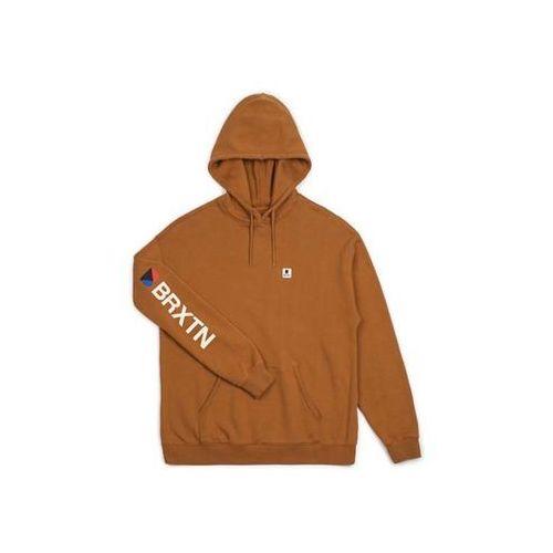 bluza BRIXTON - Stowell Intl Hood Washed Copper (WSHCP) rozmiar: M, kolor brązowy