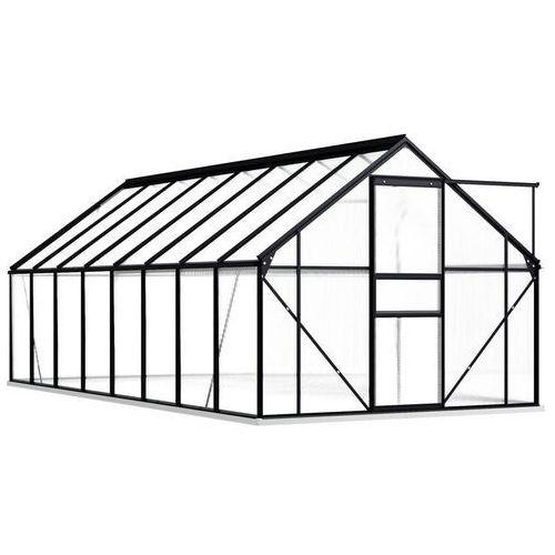 VidaXL Szklarnia z ramą podstawy, antracytowa, aluminium, 29,79 m³