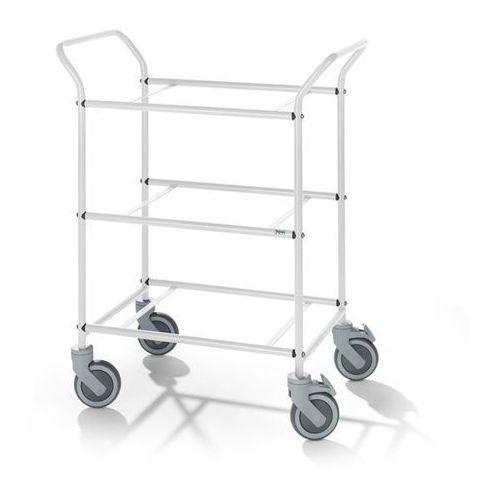 Wózek serwisowy, do zdejmowanych skrzynek, kolor szkieletu: biały. nośność 150 k marki Kongamek