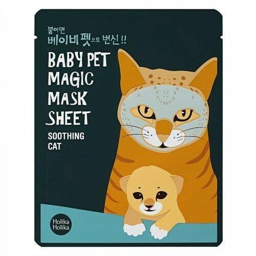 Holika Holika Baby Pet Magic Mask Sheet Soothing Cat (22 ml), 26246628135
