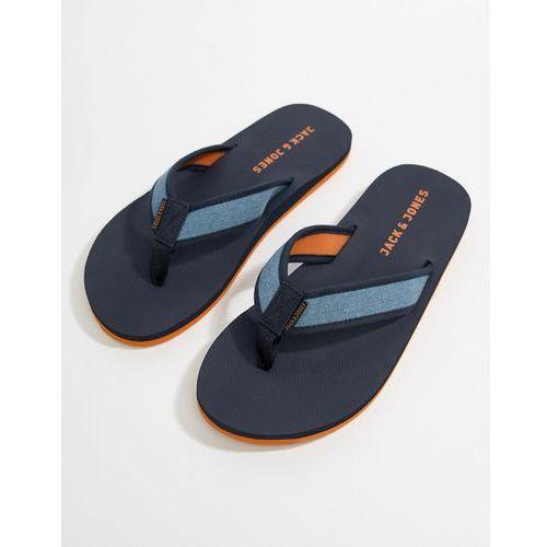 comfort flip flops - navy marki Jack & jones