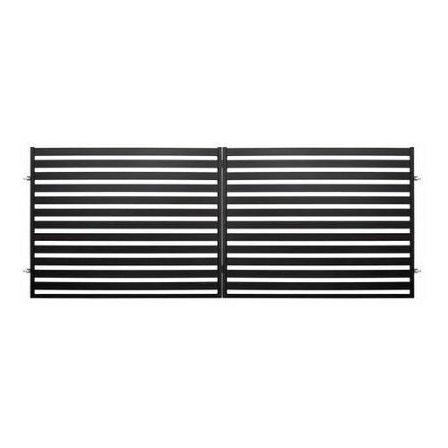 Polbram steel group Brama dwuskrzydłowa lara 2 400 x 154 cm czarna