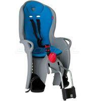 Fotelik rowerowy SLEEPY szary, niebieska wyściółka