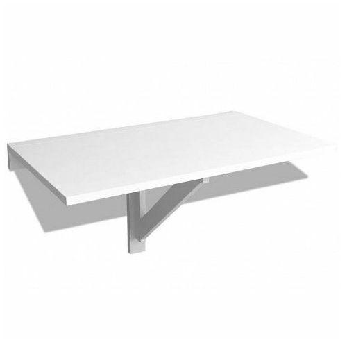 Biały składany stolik na ścianę - Telis
