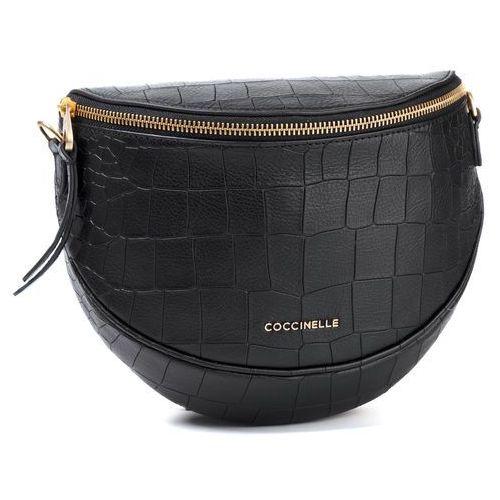 Saszetka nerka COCCINELLE - FC1 Blackie Croco Soft E1 FC1 15 01 01 Noir 001