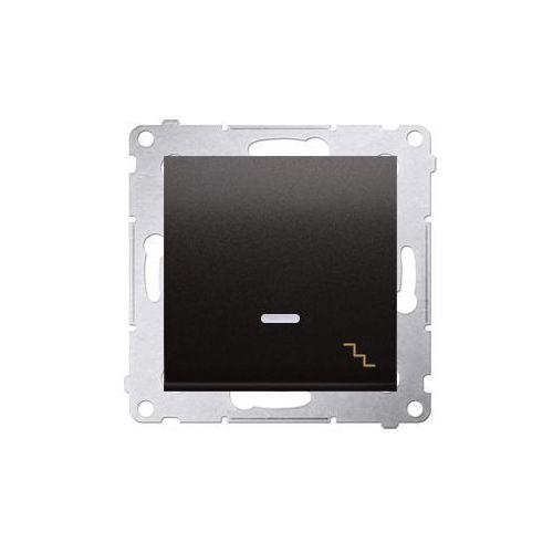 SIMON 54 Łącznik schodowy z podświetleniem LED (moduł) 10AX, 250V~, szybkozłącza; antracyt DW6L.01/48 WMDL-061xxx-048