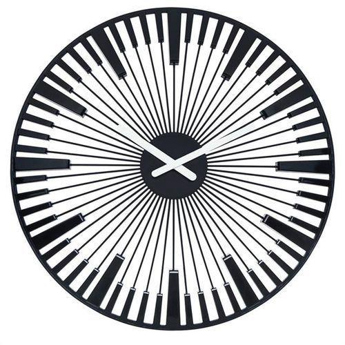 Zegar ścienny Piano czarny, 2340526