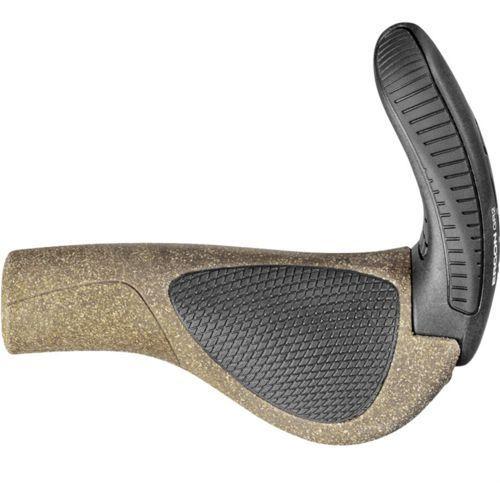 Ergon gp1 biokork chwyt do kierownicy rohloff/nexus brązowy/czarny chwyty ergonomiczne