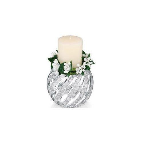 Świecznik biały - (BC#5571_17), kup u jednego z partnerów