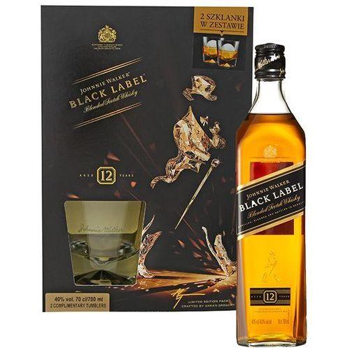 700ml black label whisky + 2 szklanki | darmowa dostawa od 150 zł! marki Johnnie walker