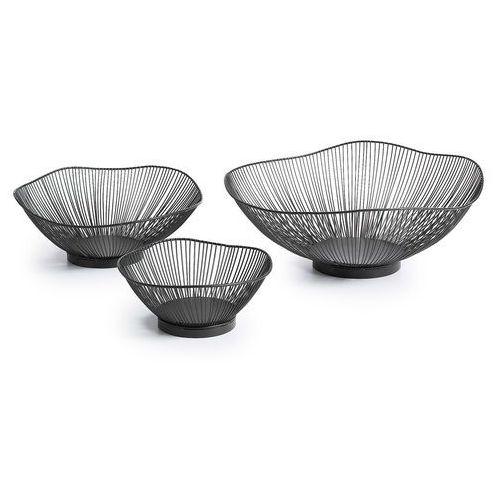 :: zestaw 3 metalowych misek arabel czarne marki Laforma
