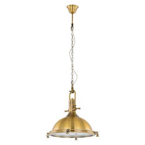 Industrialna LAMPA wisząca MADISON MA04099CB-001 Italux przemysłowa OPRAWA metalowa loft brąz antyczny