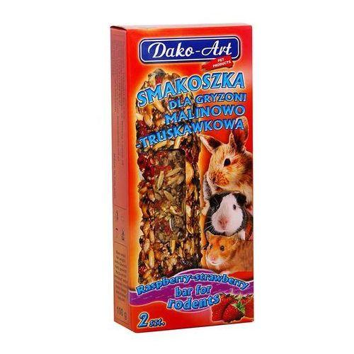 Dako-art  smakoszka - kolby malinowo-truskawkowe dla gryzoni 2szt. (5906554353409)