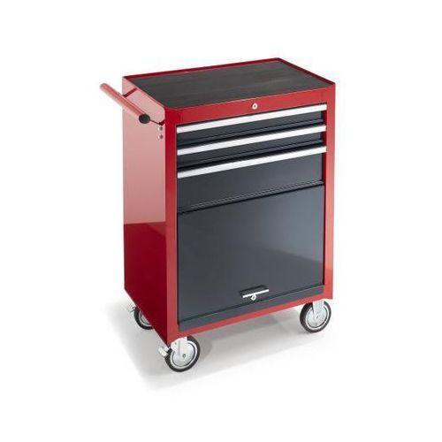 Wózek warsztatowy, wys. x szer. x głęb. 995x680x458 mm, 3 szuflady, 1 półka na n marki Seco