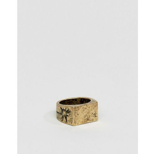 Classics 77 burnished cross band ring in gold - gold