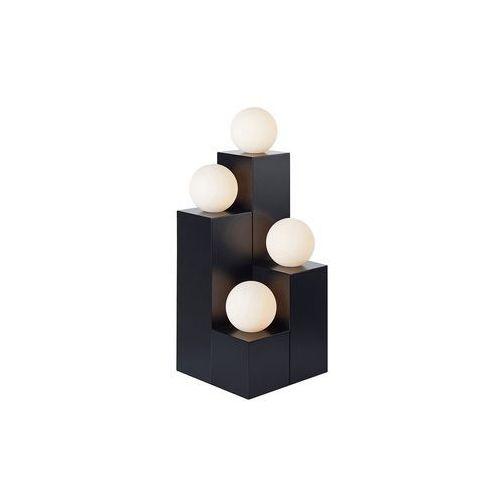 Stojąca lampa stołowa impero 107586 metalowa lampka na biurko szklane kule czarna biała marki Markslojd