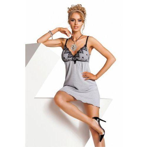 Koszula Nocna Model Monika Grey, kolor szary