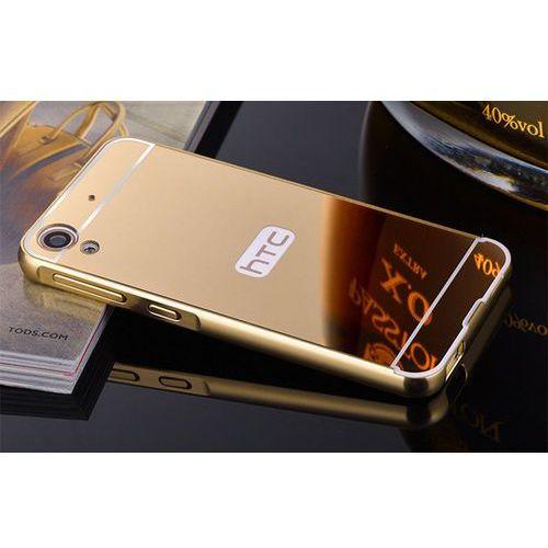 Mirror Bumper Metal Case Złoty | Etui dla HTC Desire 626 - Złoty (Futerał telefoniczny)