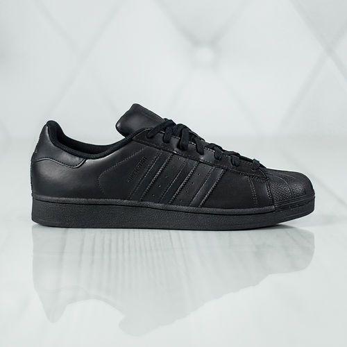"Buty superstar foundation ""core black"" (af5666) - czarny marki Adidas"