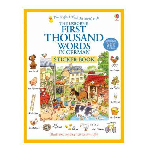 First Thousand Words in German Sticker Book