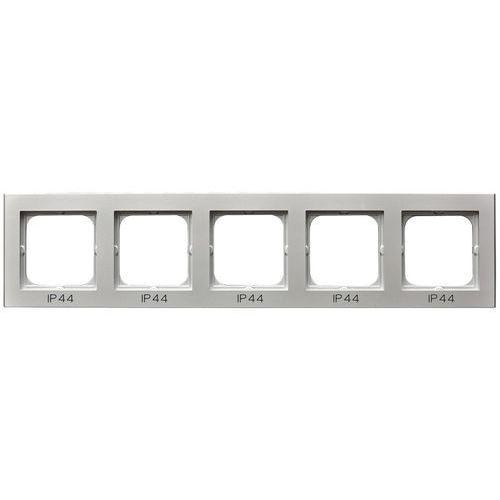 Ramka pięciokrotna do zestawów IP-44 Srebro mat - RH-5R/38 Sonata, kolor srebrny