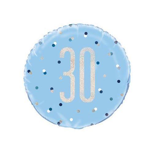 Unique Balon foliowy niebieski - 30 - 46 cm - 1 szt.
