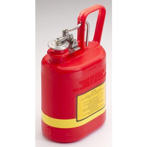 Justrite Bezpieczny pojemnik, polietylen, poj. 4 l, czerwony. z polietylenu (pe), kolor c