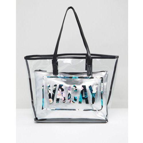 New Look Vacay Clear Beach Shopper Bag - Multi