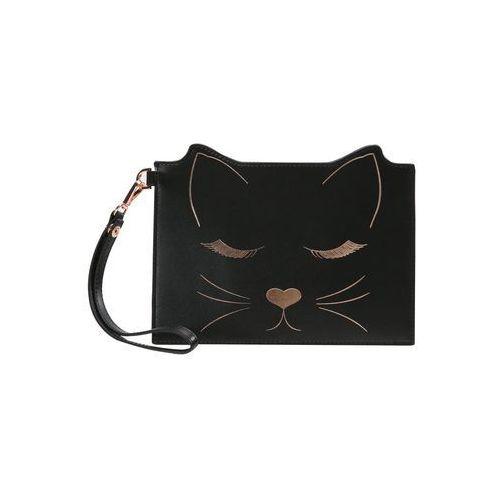Ted Baker FELIXEADA7WLEATHER CAT POUCH Kopertówka black, kolor czarny