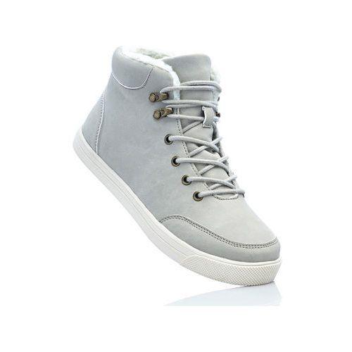 Wysokie sneakersy jasnoszary marki Bonprix