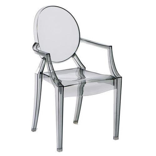Krzesło Royal inspirowane Louis Ghost - szary ||transparentny, kolor szary