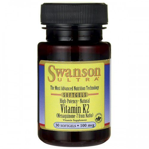 SWANSON Witamina K2 / 30 softgels/100mcg (0087614026725)